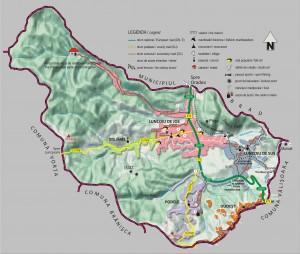 Harta comunei Luncoiu de Jos